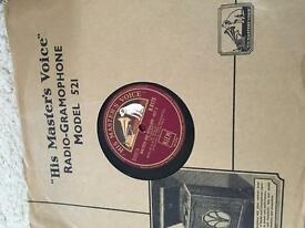 Vintage homophobe and gramophone records