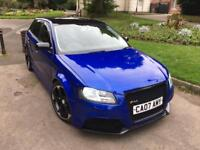 AUDI A3 1.9 TDI SE 2007 5 DOOR SPORTBACK FULL 2012 RS3 SPRINT BLUE REPLICA FULLY LOADED