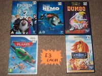 DISNEY DVDS GAMES AND BLU-RAYS