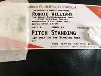 Robbie williams ticket principality stadium cardiff