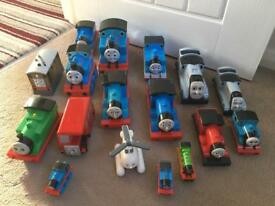 Collection of 17 Thomas The Tank Engine Toys