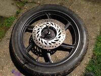 Honda CBF front wheel