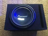 Pioneer Subwoofer (with box) & Alpine MRX-M50 Amplifier