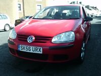 2006 56 VOLKSWAGEN GOLF 1.4 S 5 DOOR ** ONE OWNER ** MOT AUGUST 2018 **
