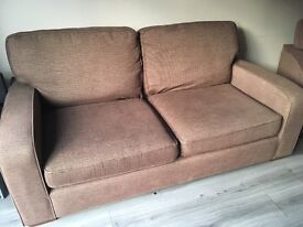 John Lewis double sofa and armchair