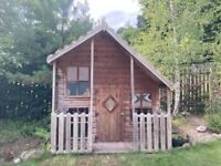Large Wooden Play House (2.1m (7ft) x 2.4m (8ft) base)