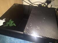 Xbox one with controller, wires and games