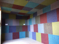 JOB LOT 50M2 (200 Tiles)Carpet Tiles. Patchwork Tiles. Ideal For Garages, Sheds, Warehouses ETC.