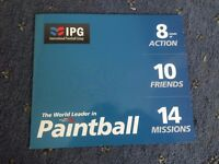 10 IPG Paintball Vouchers Tickets + 1000 Free Paintballs