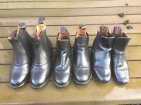 Three pairs riding boots