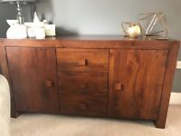 Next Mangowood sideboard and nest of tables