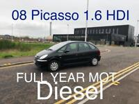 Diesel £1350 2008 Picasso HDi 1.6l* like focus golf astra cmax scenic galaxy insignia mondeo