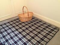 Picnic basket and rug