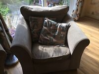 M&S mocha bed settee and two chairs