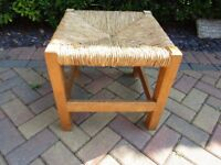 Rattan topped stool in great condition