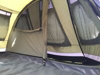 Outwell Arrow Lake poly-cotton tent with zip in groundsheet, footprint & carpet. Excellent condition