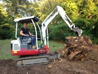 mini digger hire with cpcs driver