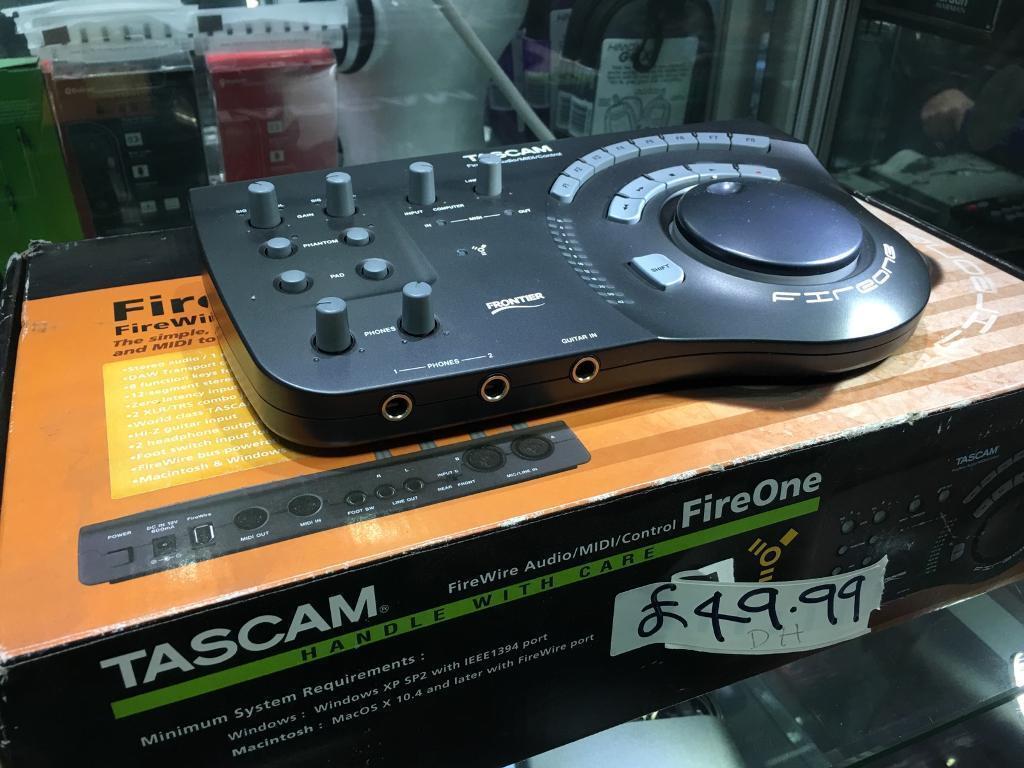 Tascam fireone FireWire audio midi controller