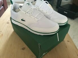 Men's size 8 brand new Lacoste trainers