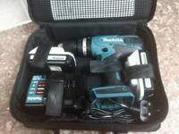 Makita 18v combi drill with two 1.5 amp batteries