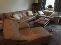 Leather village sofas
