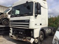 daf xf105 tractor unit , euro5, 2007reg for sale