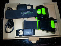 Diving Buddy Watcher Set. Includes charging cables and brackets.