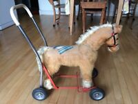 Lines Brothers mohair horse on wheels