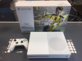 WHITE XBOX ONE S - 500GB - WHITE - USED - CAN BE EXCHANGED IN STORE -