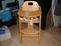 East Coast Multi Height Natural Wood Highchair (from John Lewis)