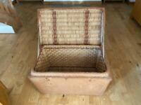 Vintage wicker basket/toy box/log basket