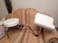 White foot stool and leg rest