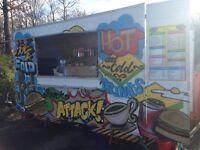 Mobil Catering trailer for sale,including Griddle,Jacket potato oven,Bain Marie, &Display Fridge.