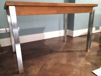 Habitat Oak Table with Stainless Steel Legs