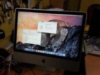 iMAC 27 inch Core 2 Duo 2.4Ghz,4GB RAM,250GB SSD HDD,DVD Super Drive,OS X Yosemite.Mac office 2011