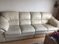 Genuine Leather Sofa Four Seater Used but very comfy Sofa for Sale at Bargain Price Cheap Deal