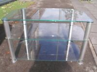 TV STAND WITH SHELVES EXCELLENT CLEAN STRONG STAND CAN DELVIER LOCAL