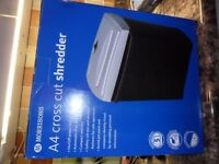 Brand NEW Boxed Morrisons A4 Cross Cut Shredder
