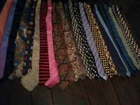 Job lot ties 25 x (mainly 100% silk) burton,next,Jeff Banks, ciro citterio, M&S