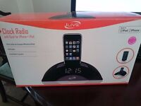 iLive Clock Radio with dock for iPhone / iPod - Excellent condition in original box