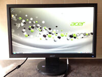 Acer V193HQv 19 inch Widescreen LCD TFT 5ms Flat Screen LCD computer monitor