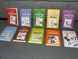 DIARY OF A WIMPEY KID BOOKS **ALL EXCELLENT CONDITION**FULL SET FOR SALE