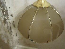 Vintage glass light fitting