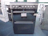 EX-DISPLAY STAINLESS STEEL INDESIT 60 CM WIDE FREESTANDING COOKER REF: 31079