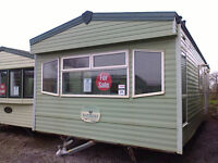 Static caravan for sale, pre-owned, 28 x 12 ft / 2 bedrooms, with double glazing & central heating