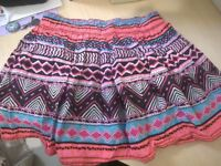 H&M summery multicolor flared skirt