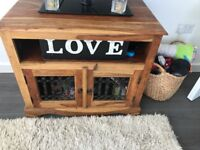 Beautiful tv unit and side table to match