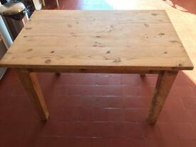 Solid wood kitchen table