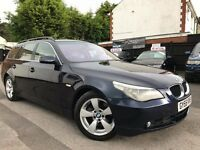 BMW 5 Series 2.5 525d Touring Automatic Service History 1 Year MOT 2 Owners Cream Leather 2 Keys