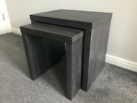 TV stand with matching nest of tables.